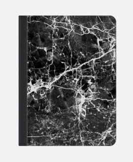 iPad Air 2 FOLIO CASE BLACK WHITE MARBLE TEXTURE