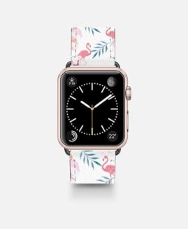 42mm Tropical Pink Watercolour Flamingo Apple Watch Band