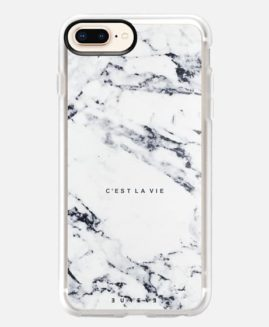 iPhone Plus C'est La Vie Marble GRIP CASE