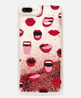 iPhone Plus Sexy Lips and Kisses Glitter Case