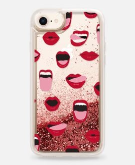 iPhone Sexy Lips and Kisses Glitter Case