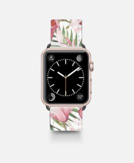 42mm Watercolour Tropical Floral Apple Watch Band