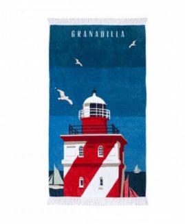 Lighthouse | Navy Beach Towel
