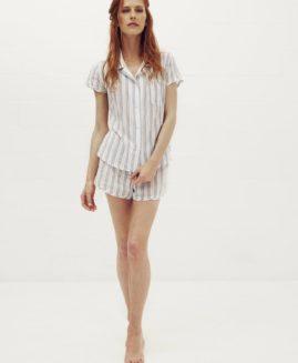 Essential Short Pyjama Set | Cotton Loop Stripe