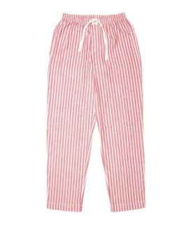 Lounge Pants Red with White Stripe