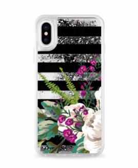 iPhone X/XS Florals Glitter Case
